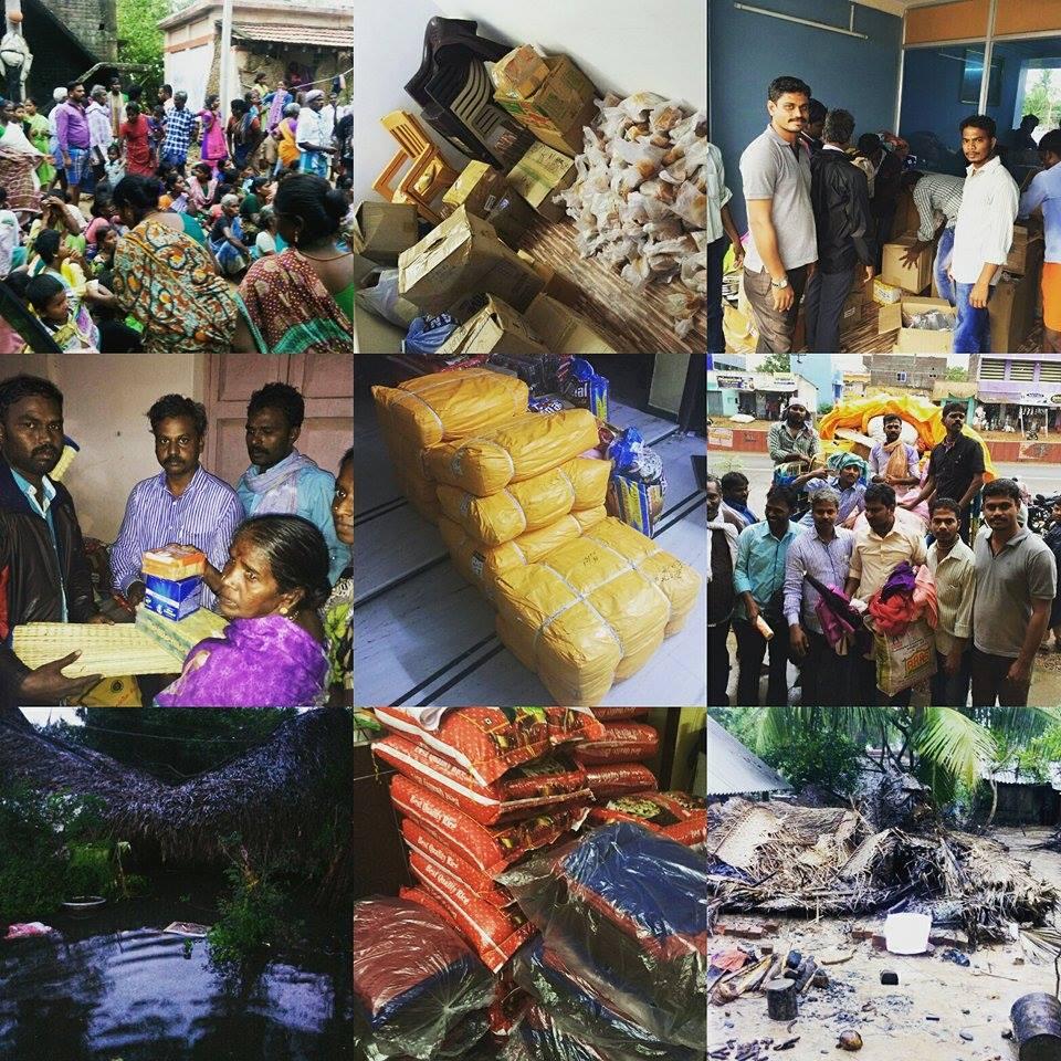 Cuddalore-Rains-Volunteer