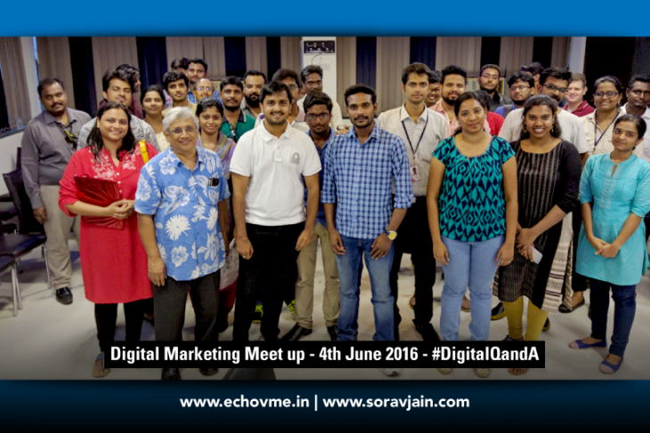 Updates From Digital Marketing Meetup in Chennai Held on June 4th 2016