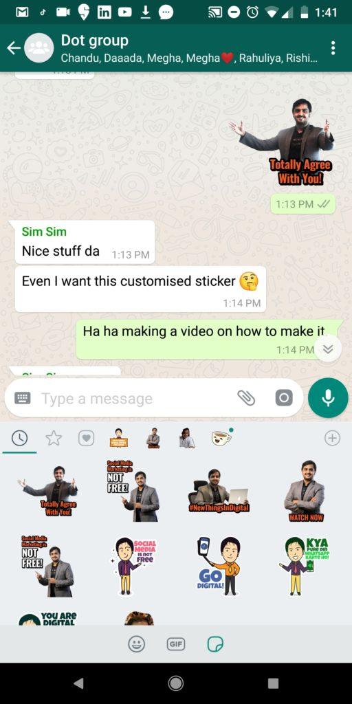 Create Customized Whatsapp Stickers