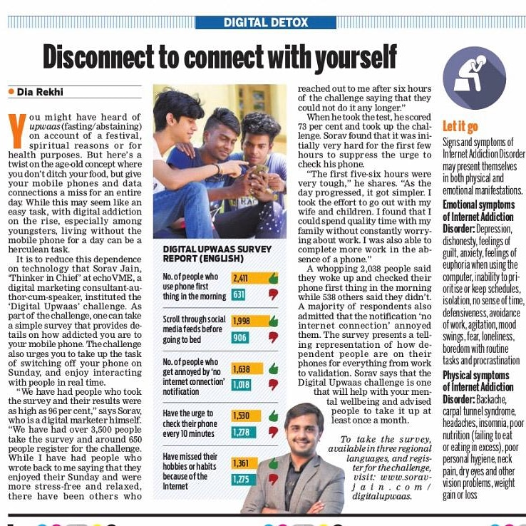 The New Indian Express : Interview For The #DigitalUpwaas