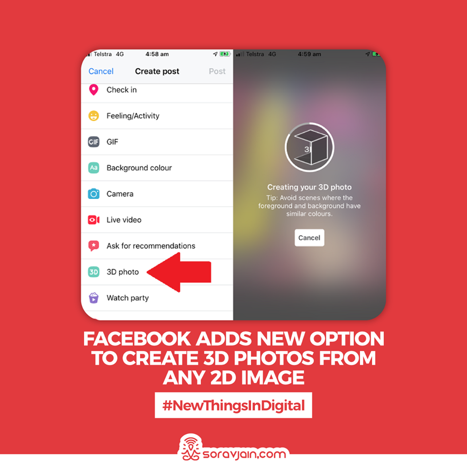 Facebook Adds New Option to Create 3D Photos From Any 2D Image