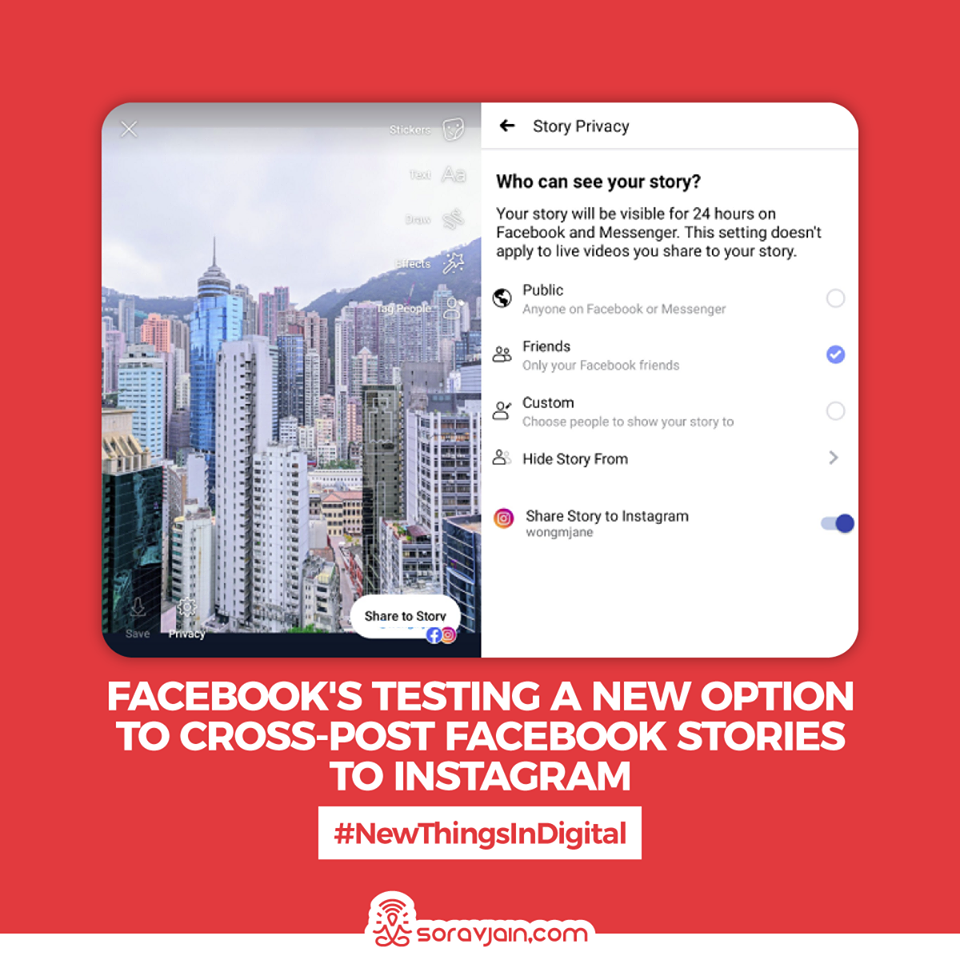 Facebook is Testing a New Option to Cross-Post Facebook Stories to Instagram