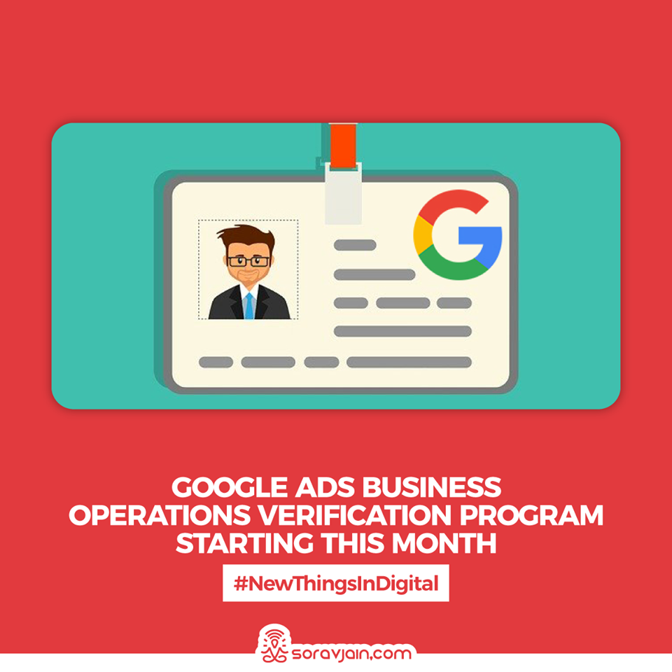 Google Ads Business Operations Verification Program Starting This Month