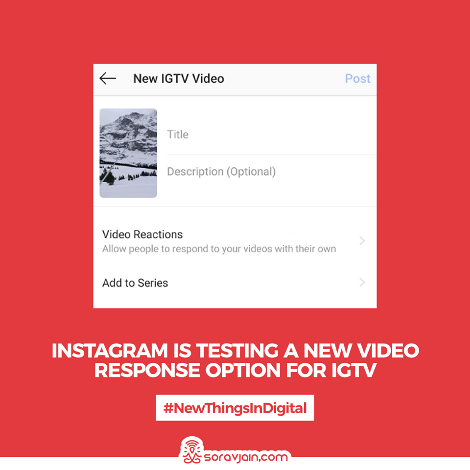 Instagram Is Testing a New Video Response Option for IGTV
