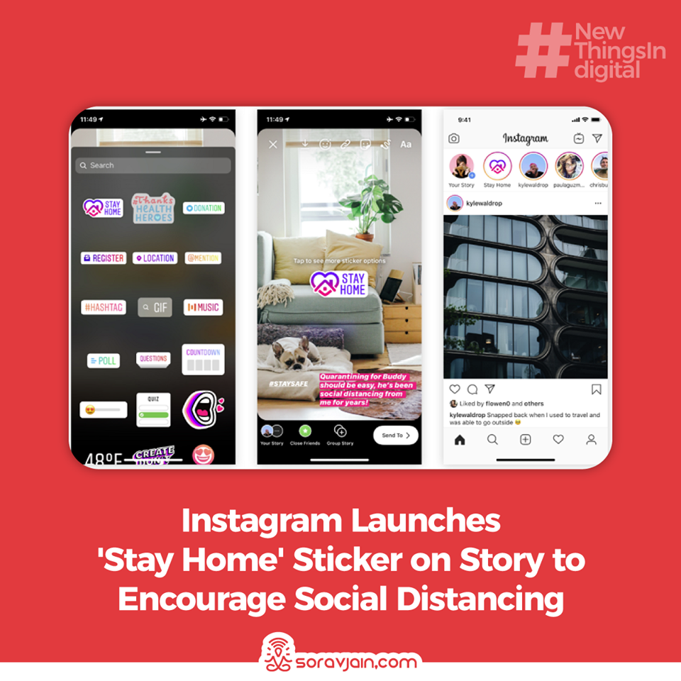 Instagram Launches 'Stay Home' Sticker on Story to Encourage Social Distancing