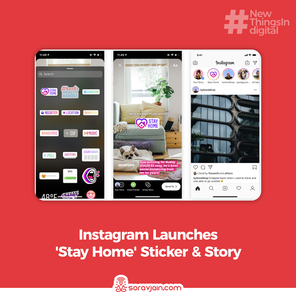 Instagram Launches 'Stay Home' Sticker & Story