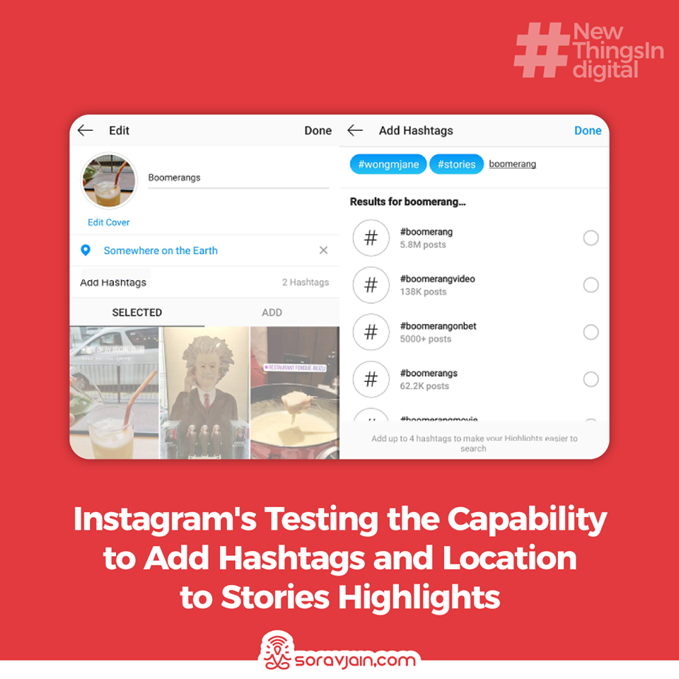 Instagram's Testing the Capability to Add Hashtags and Location to Stories Highlights