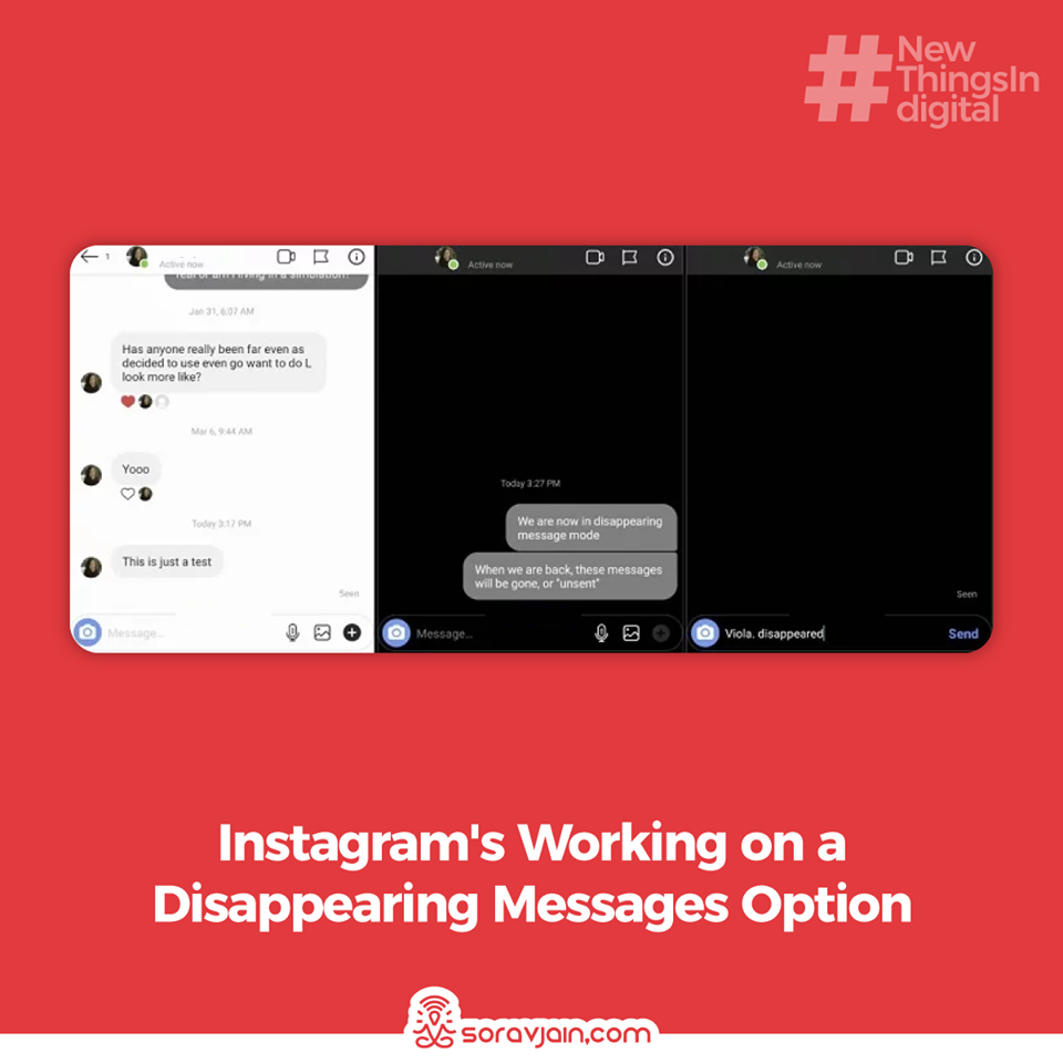 Instagram's Working on a Disappearing Messages Option