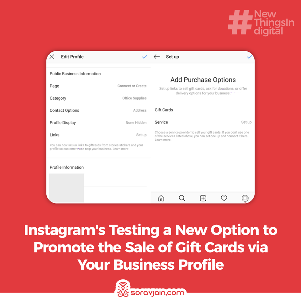 Instagram is Testing a New Option to Promote the Sale of Gift Cards via Your Business Profile