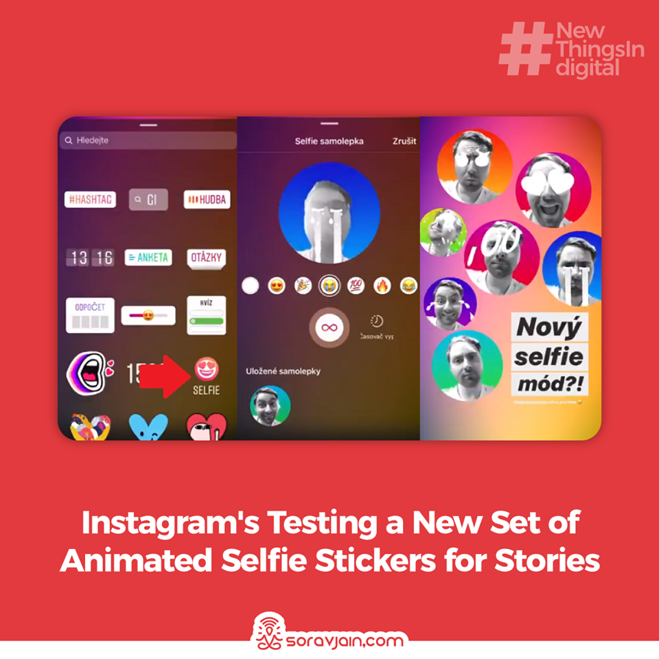 Instagram is Testing a New Set of Animated Selfie Stickers for Stories