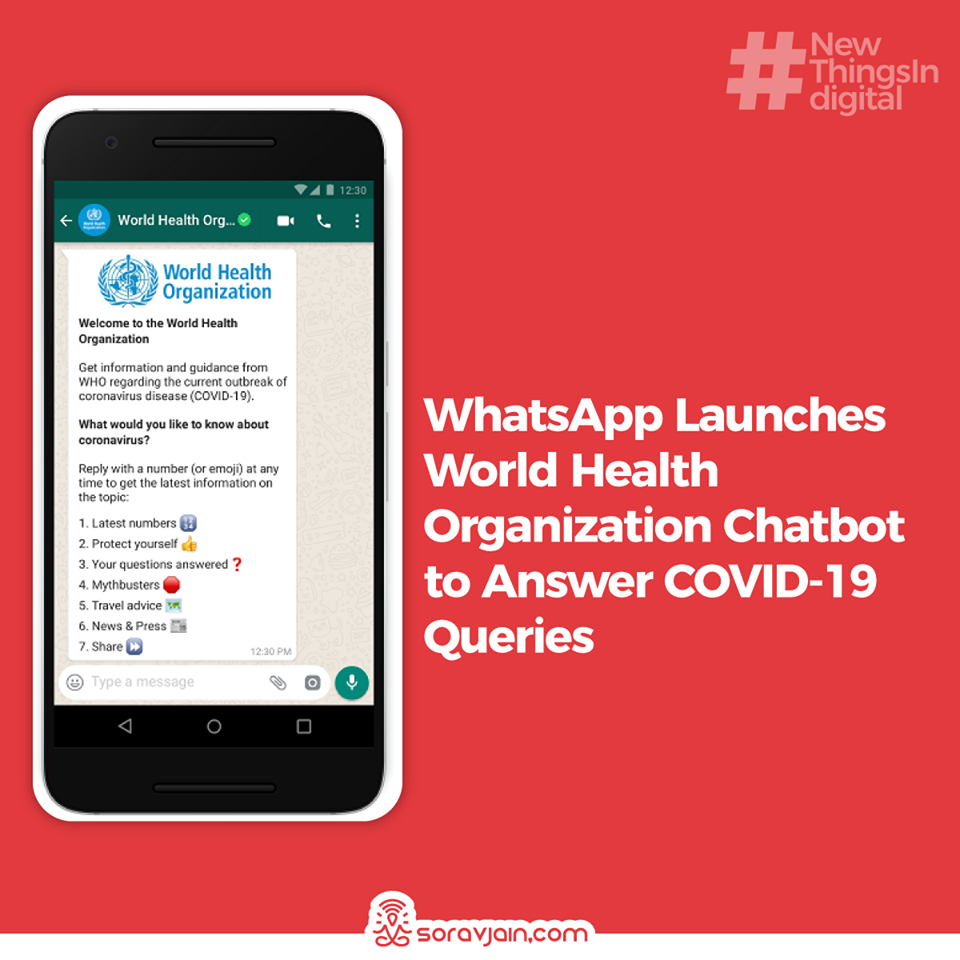 WhatsApp Launches World Health Organization Chatbot to Answer COVID-19 Queries
