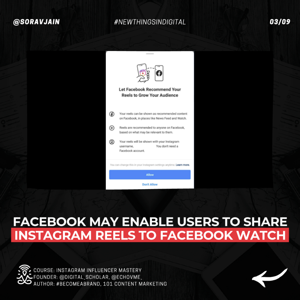 Facebook may enable users to share Instagram Reels to Facebook Watch