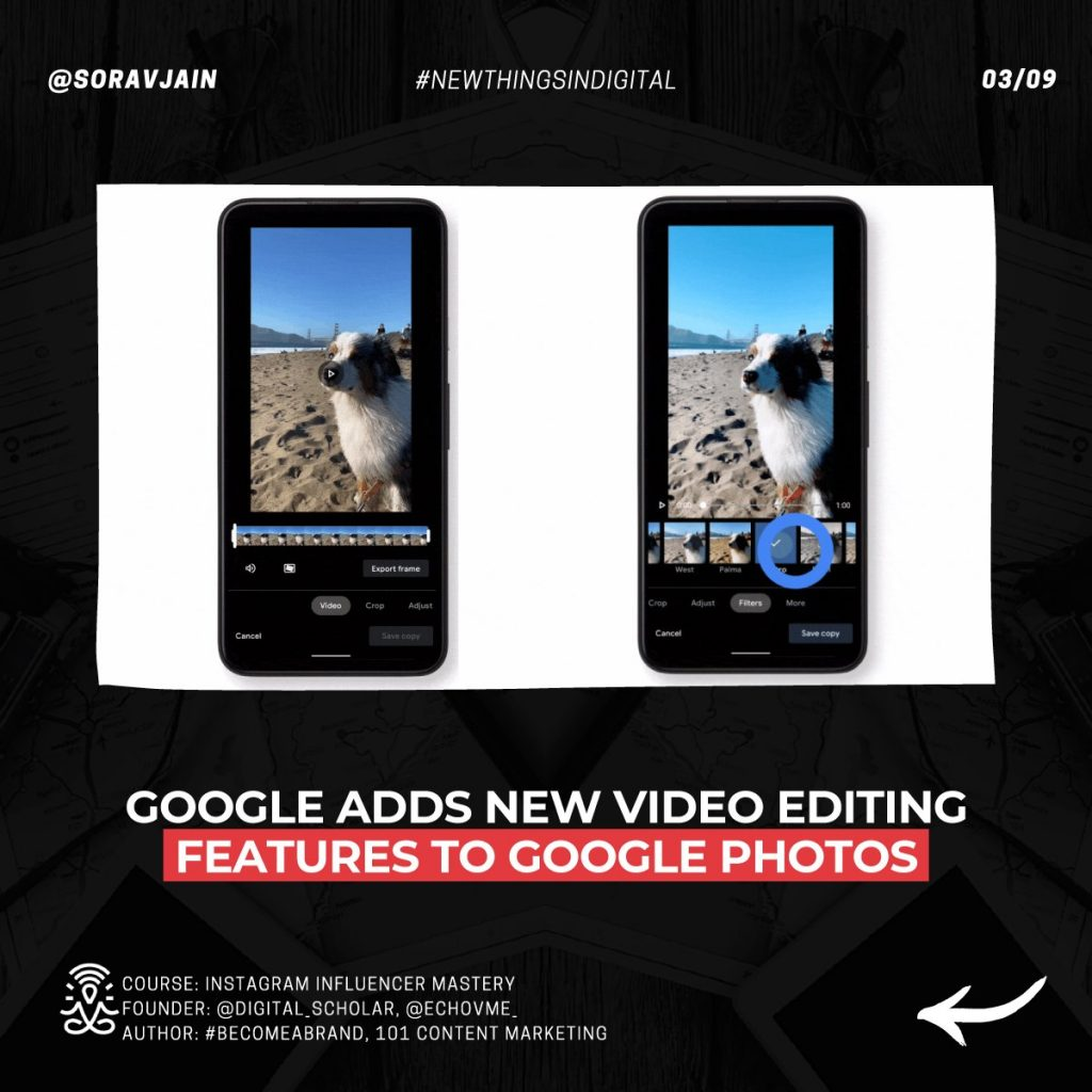 Google adds new video editing features to Google Photos
