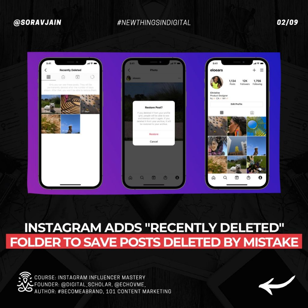 Instagram adds Recently Deleted folder to save posts deleted by mistake