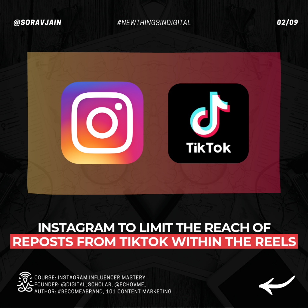 Instagram to limit the reach of reposts from TikTok within the Reels