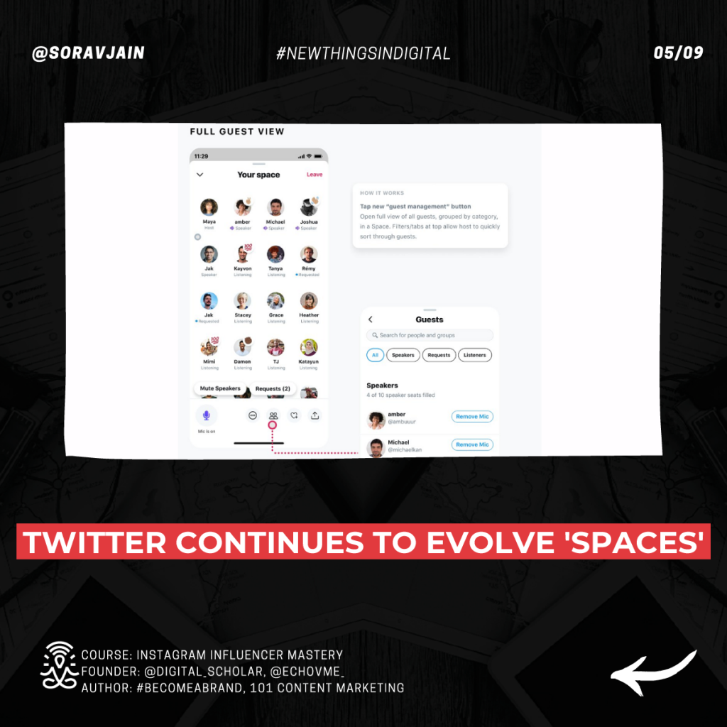 Twitter continues to evolve Spaces