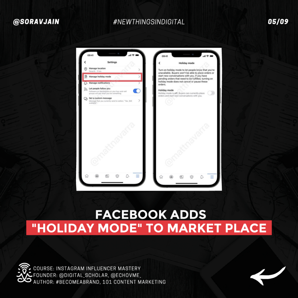 Facebook adds Holiday Mode to Market Place