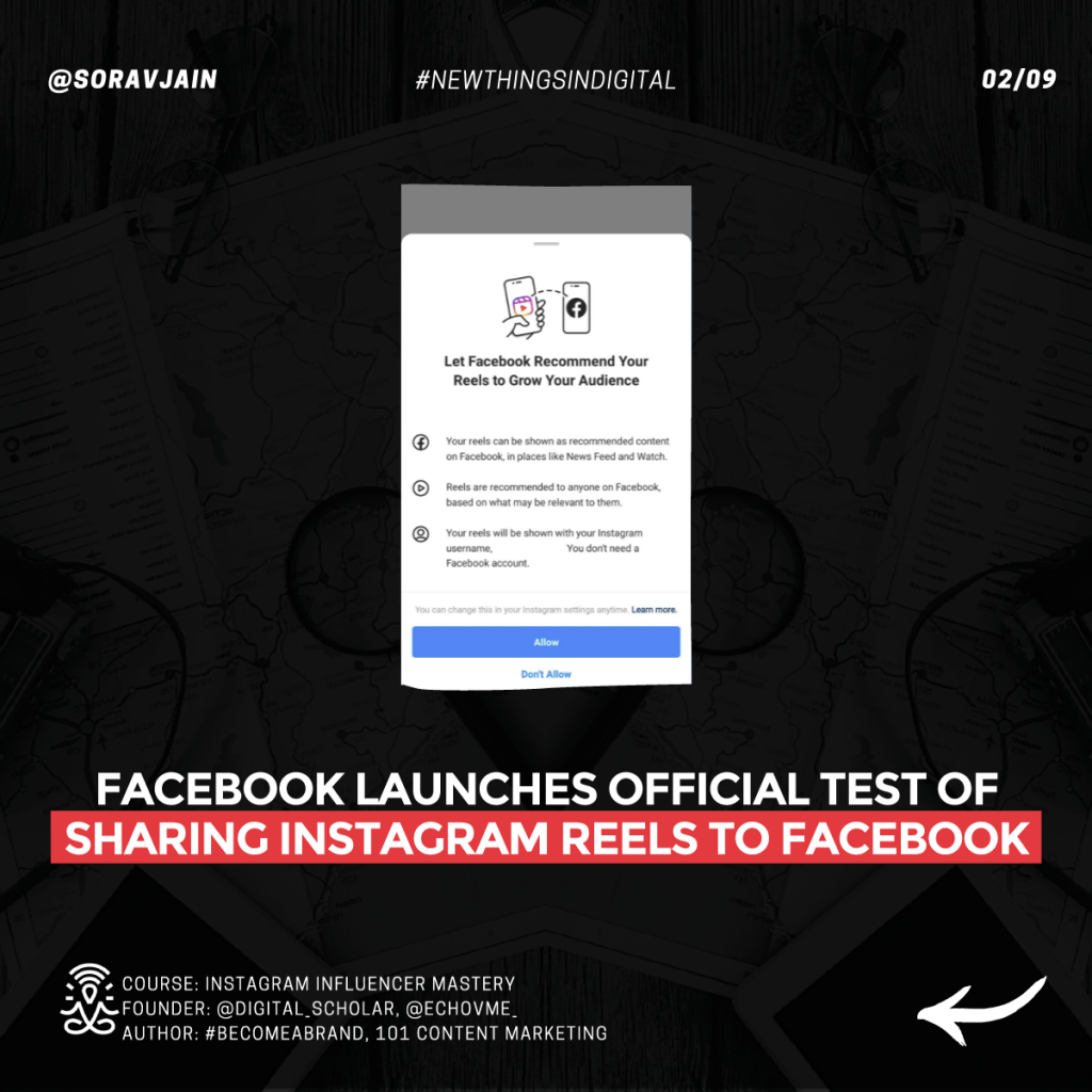 Facebook launches official test of sharing Instagram Reels to Facebook
