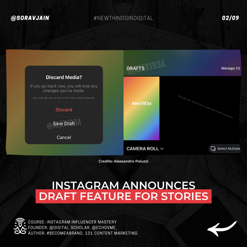 Instagram announces draft feature for Stories