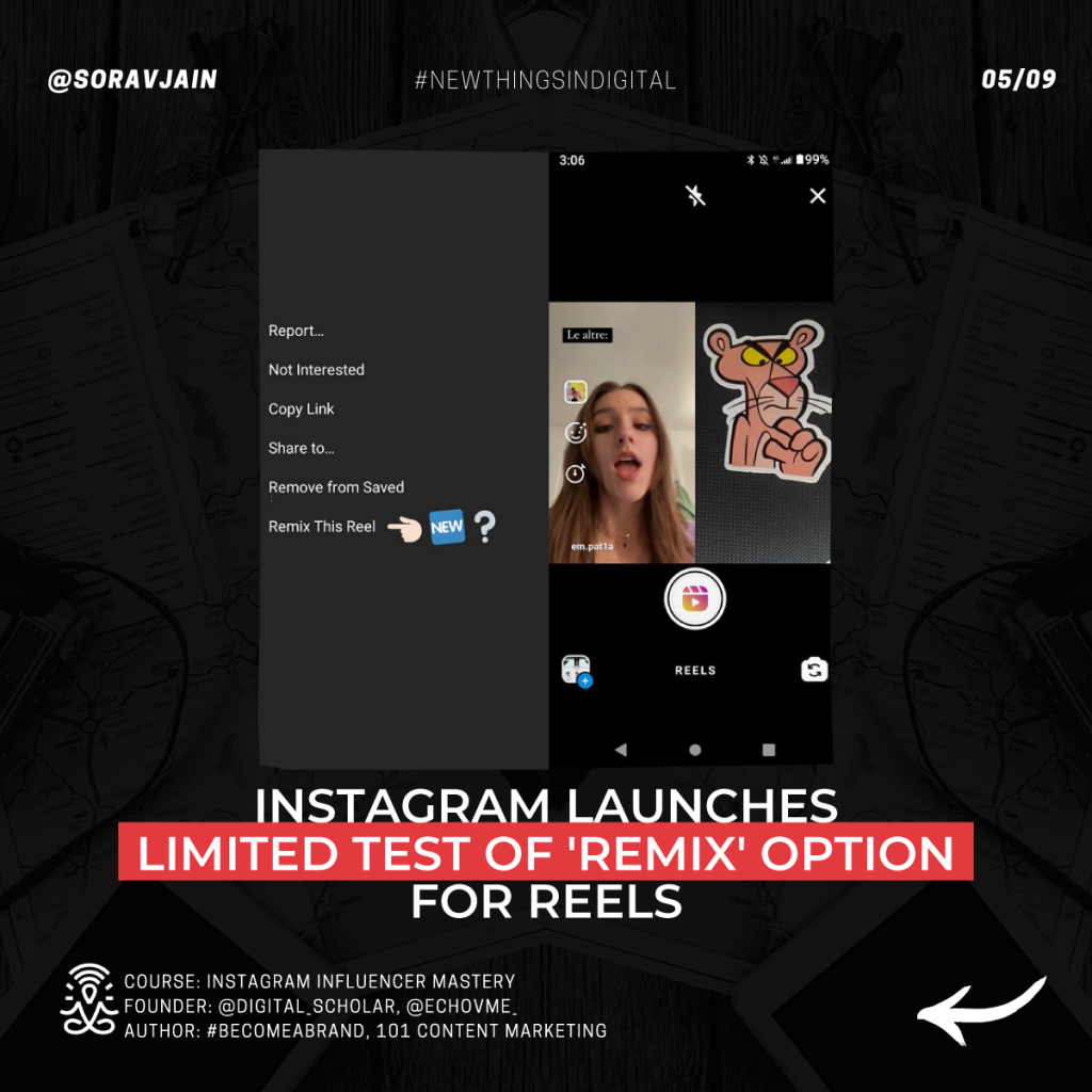 Instagram launches limited test of 'Remix' option for Reels