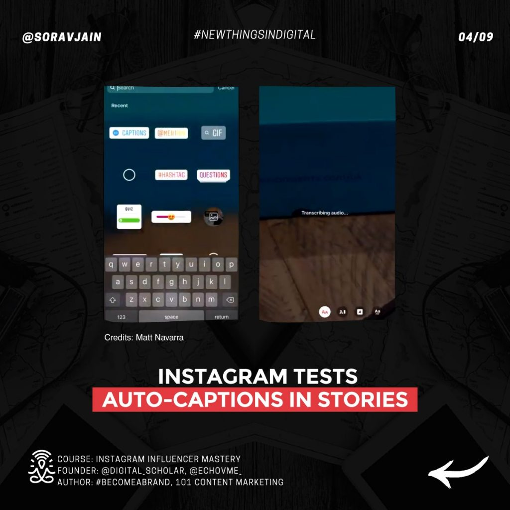 Instagram tests auto-captions in Stories
