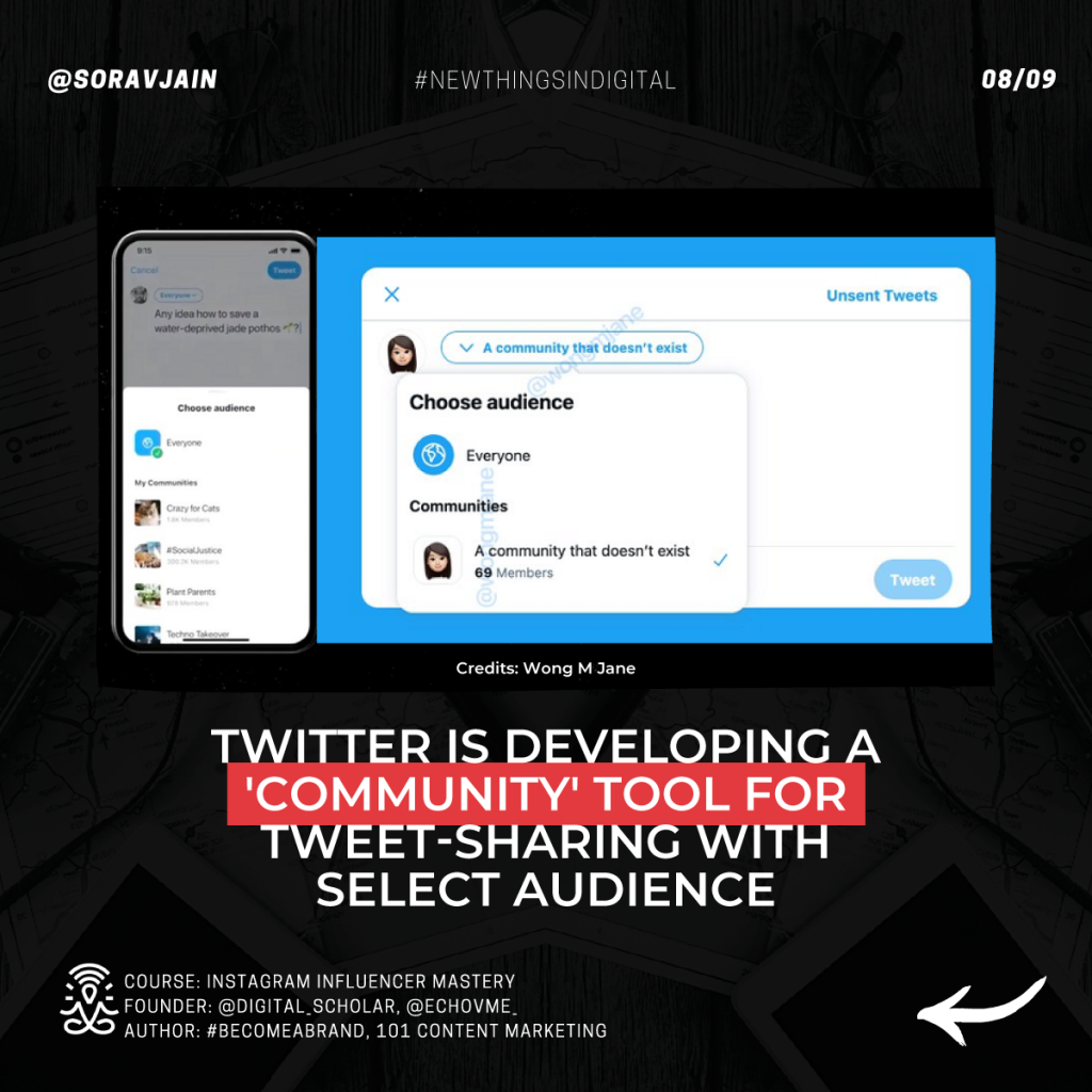 Twitter is developing 'Community' tools for tweet sharing with a select audience