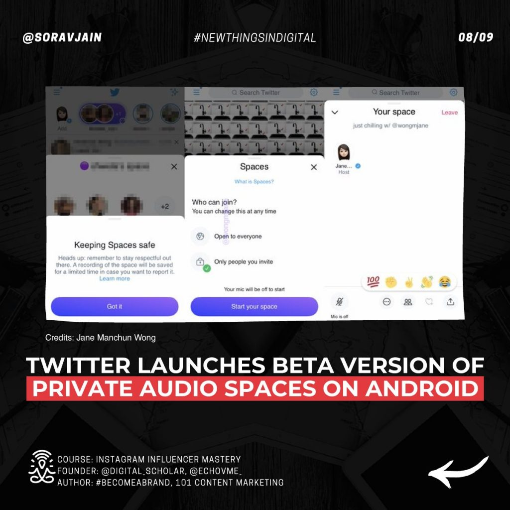 Twitter launches Beta version of private audio Spaces on Android