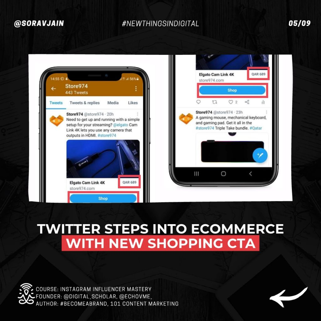 Twitter steps into eCommerce with new shopping CTA