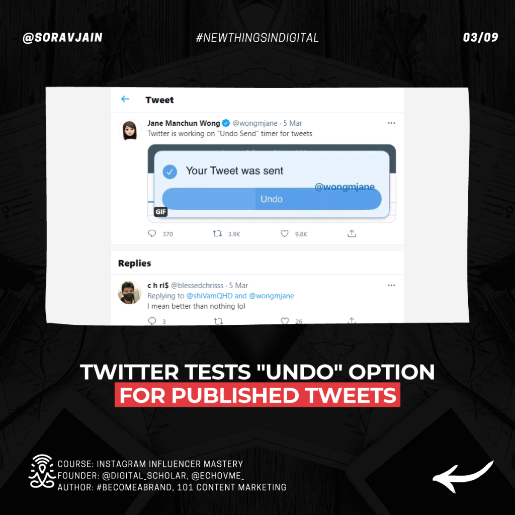Twitter tests Undo option for published Tweets