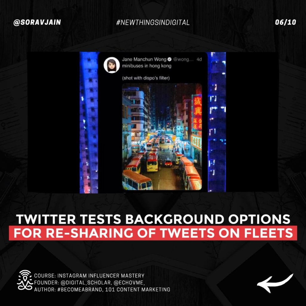 Twitter tests background options for re-sharing of Tweets on Fleets