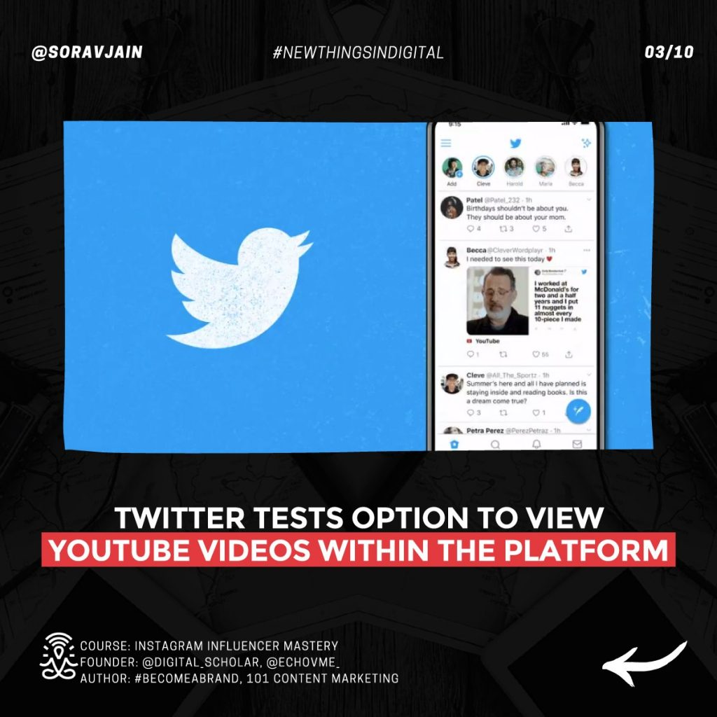 Twitter tests option to view YouTube videos within the platform