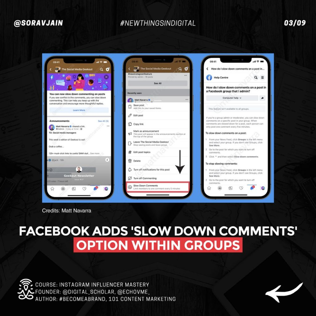 Facebook adds 'Slow Down Comments' option within groups