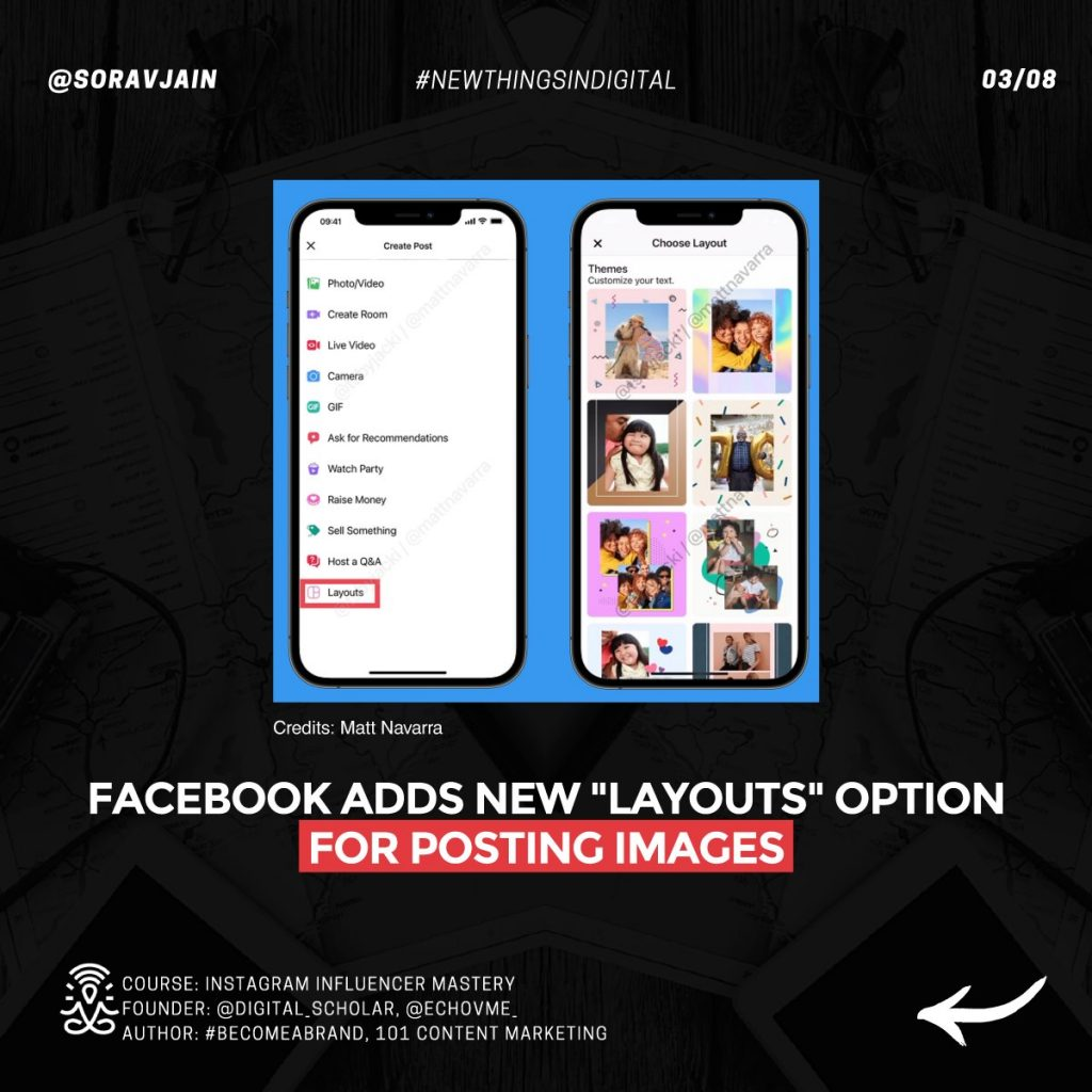 """Facebook adds new """"Layouts"""" option for posting images"""