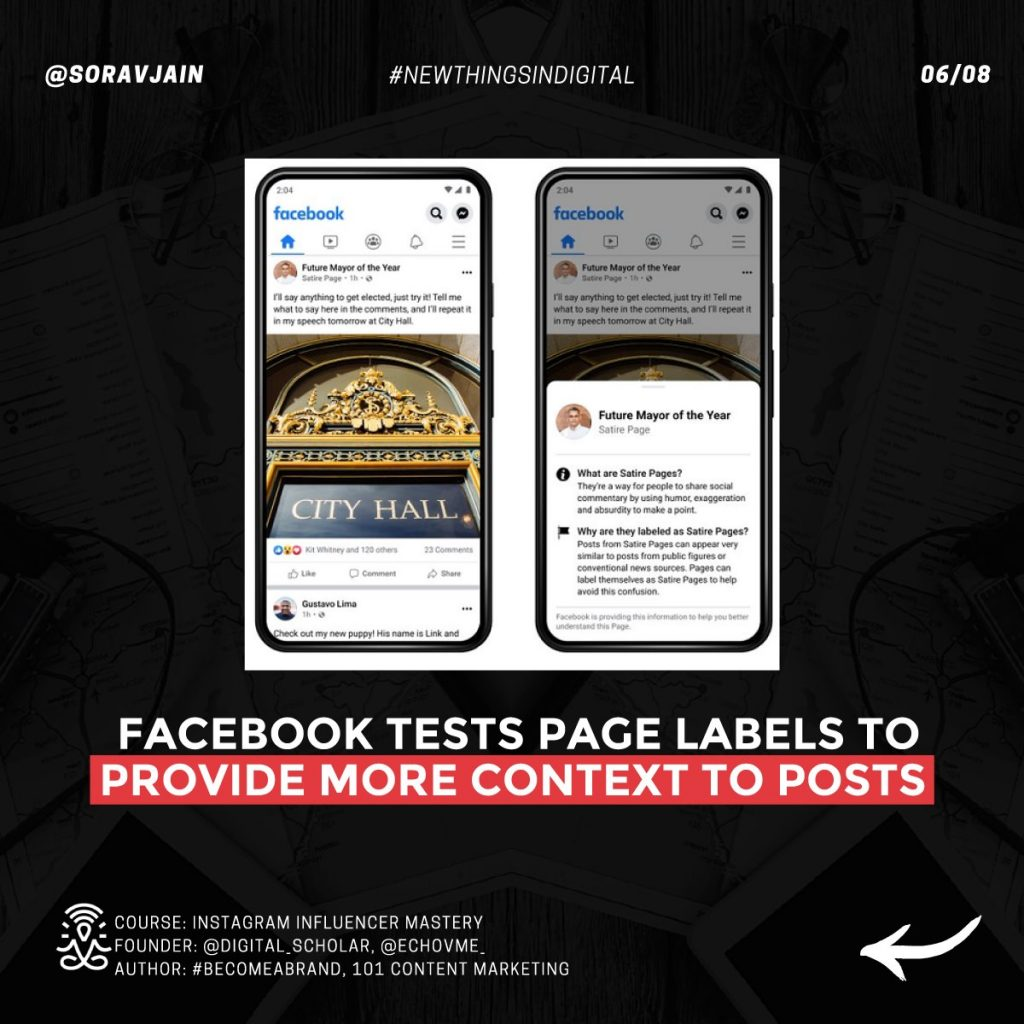 Facebook is testing Page Labels to provide more context to posts