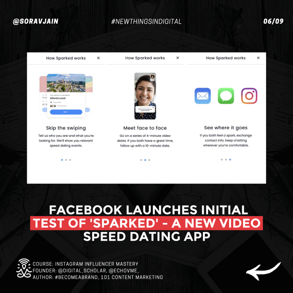 Facebook launches initial test of 'Sparked' – a new video speed dating app