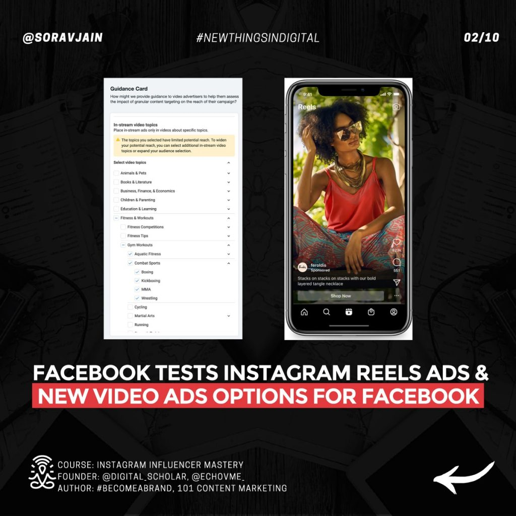 Facebook tests Instagram Reels ads and new video ads options for Facebook
