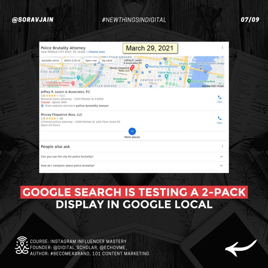 Google Search is testing a 2-pack display in Google Local
