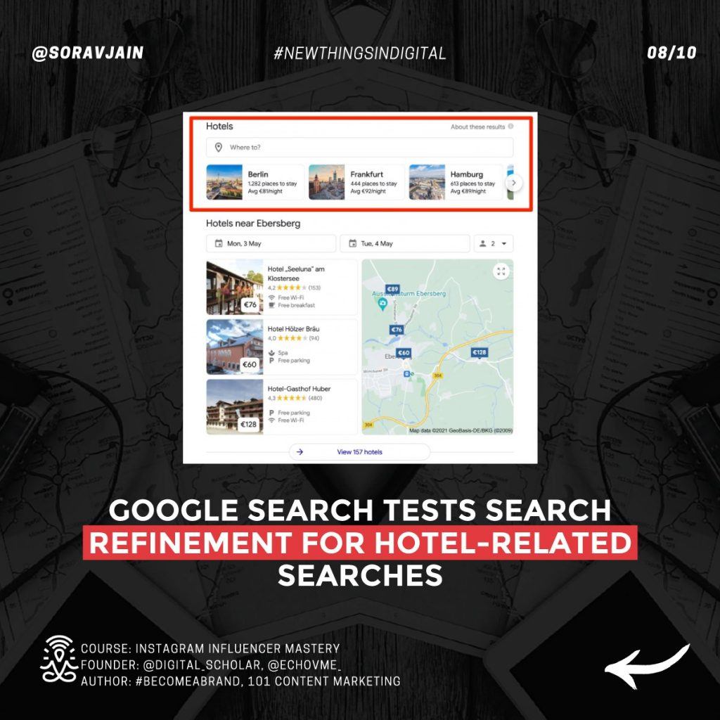 Google Search tests search refinement carousel for hotel-related searches