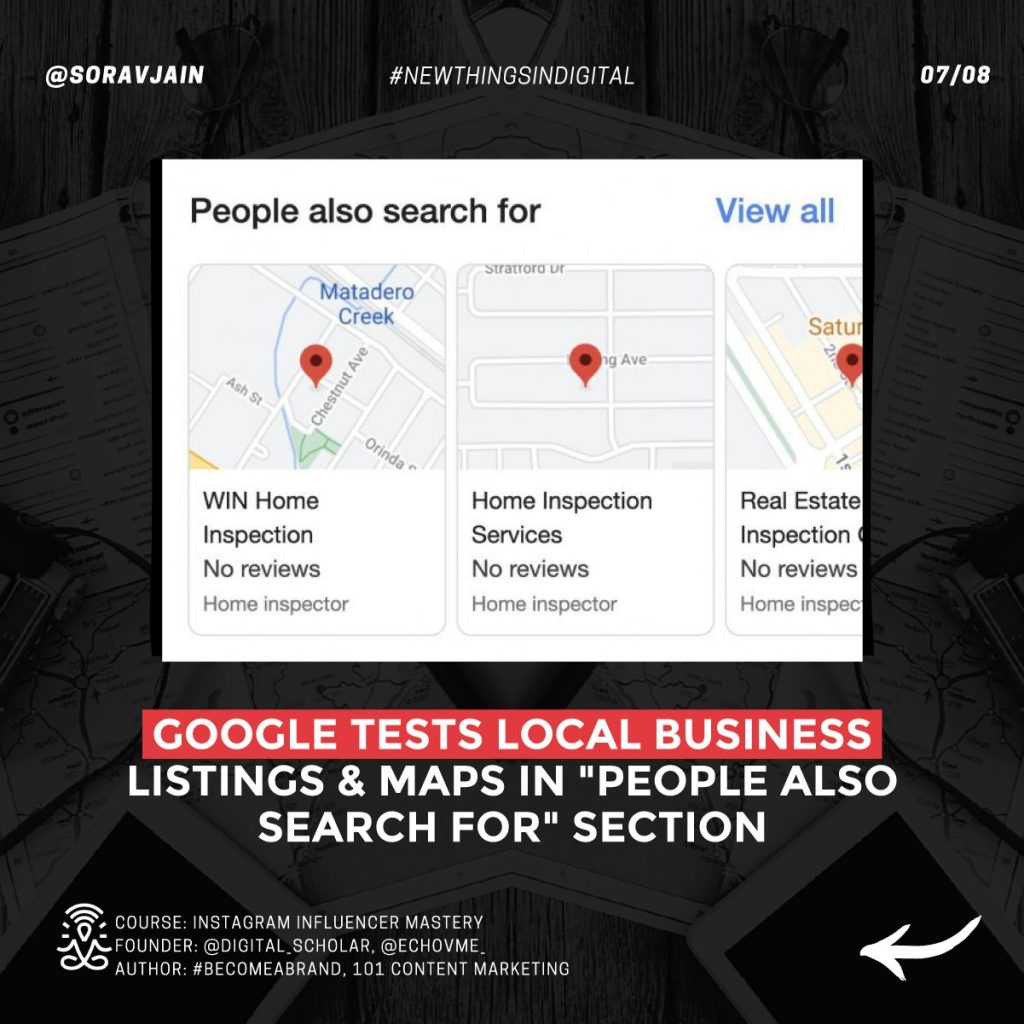 """Google tests Local Businesses listings and Maps in the """"People Also Search For"""" section"""