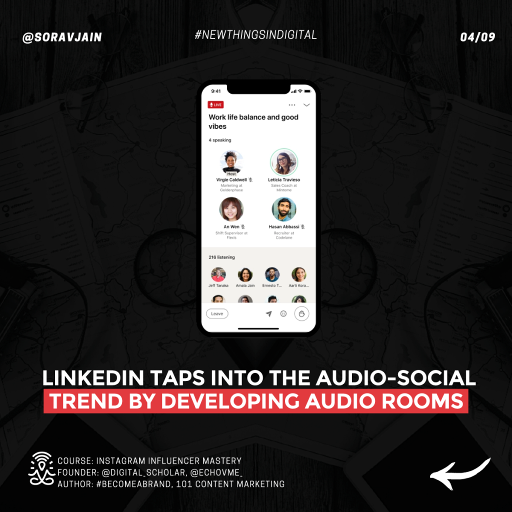 LinkedIn taps into the Audio-social trend by developing Audio Rooms