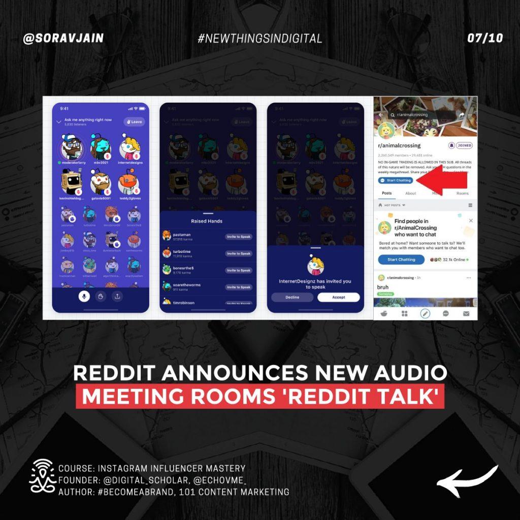 Reddit announces new audio meeting rooms 'Reddit Talk'
