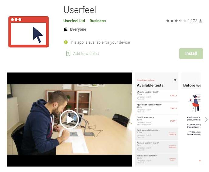 Userfeel - Money Earning App in India