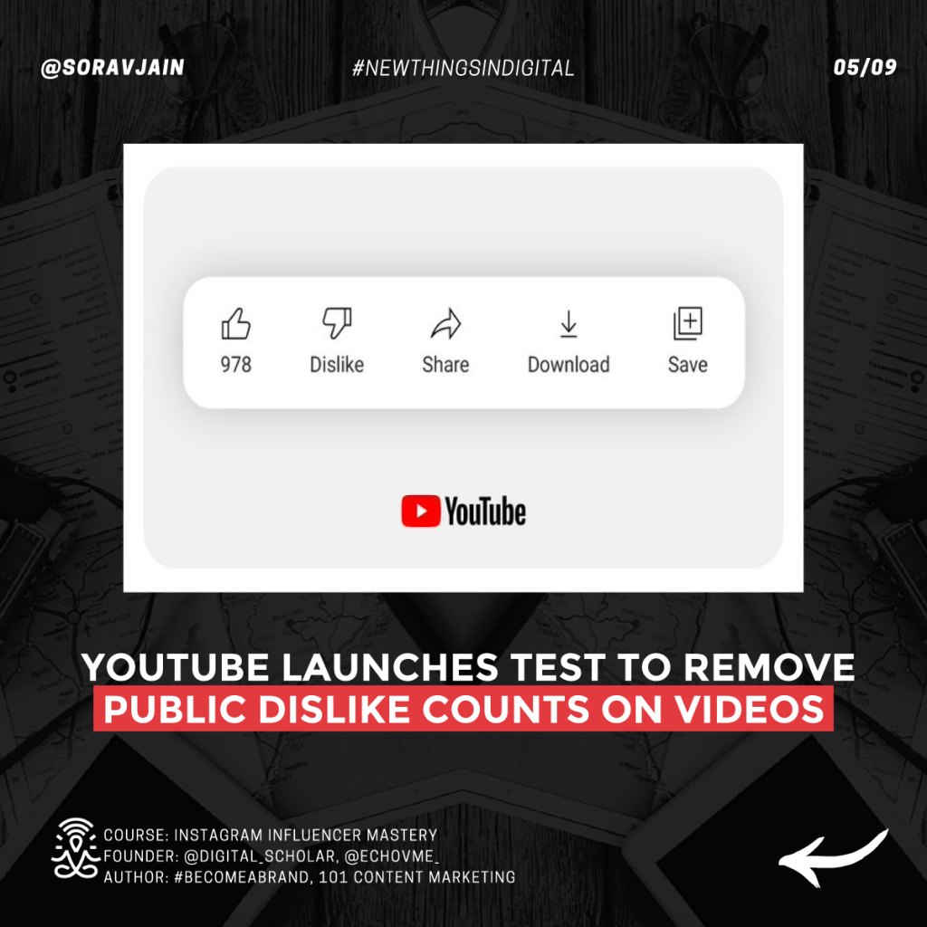 YouTube launches test to remove public dislike counts on videos