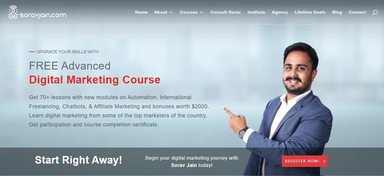Sorav Jain - Digital Marketing Blogger in India