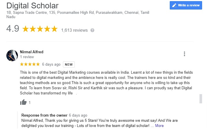 Digital Marketing Courses In Ahmedabad Reviews