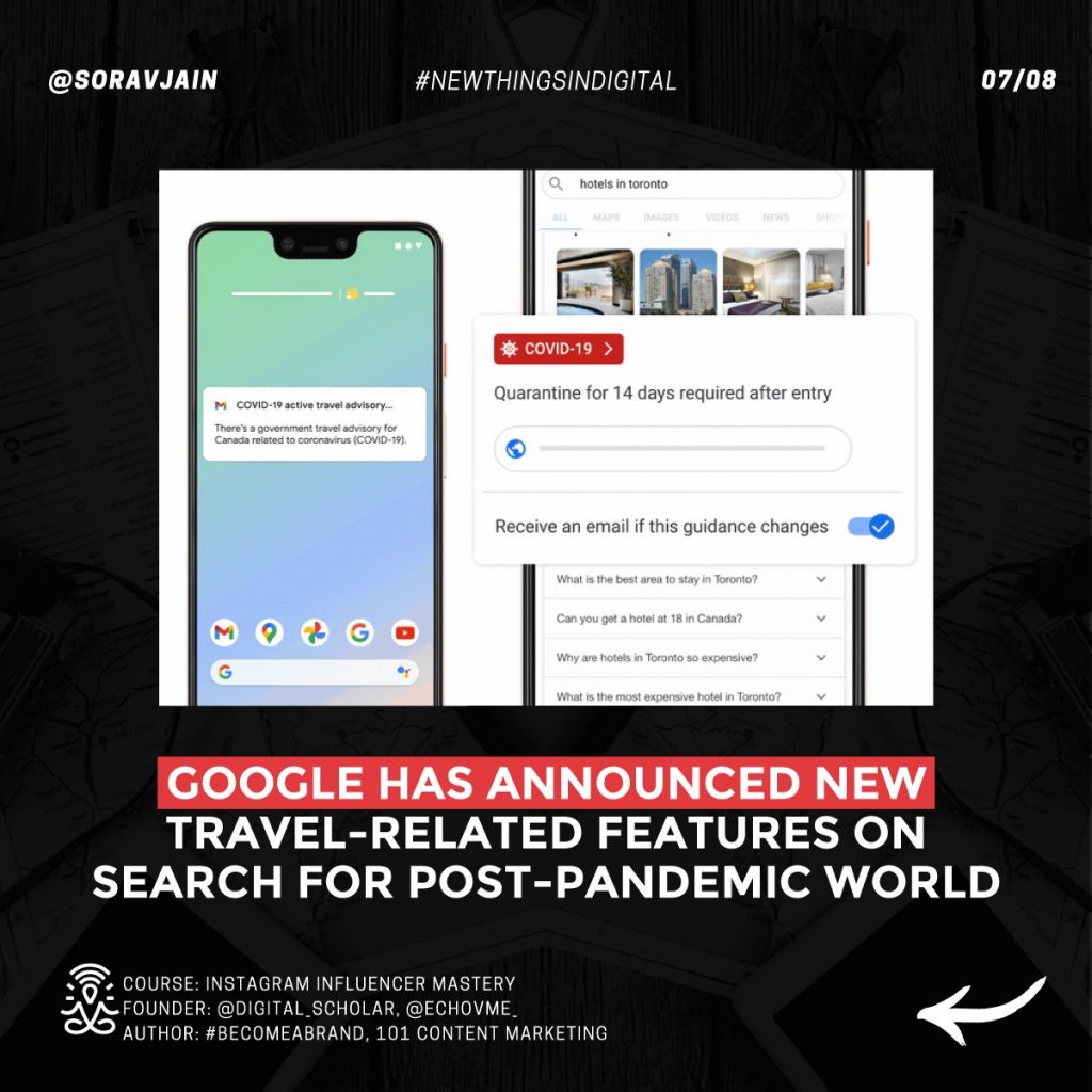Google has announced new travel-related features on Search for post-pandemic world