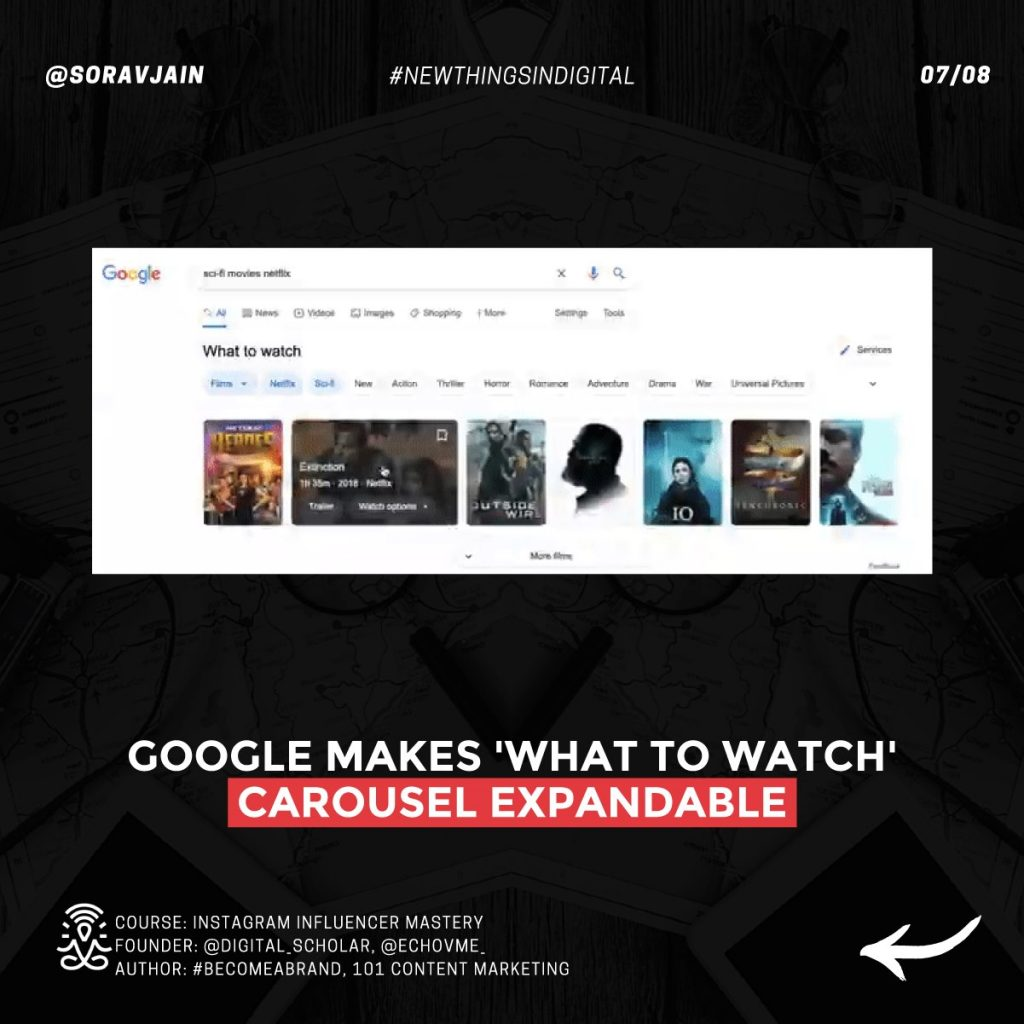 Google makes 'What to watch' carousel expandable