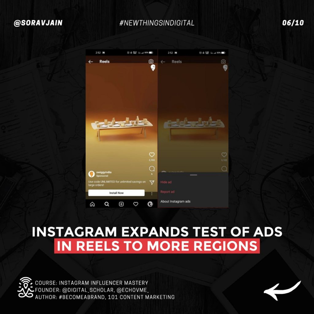 Instagram expands test of ads in Reels to more regions