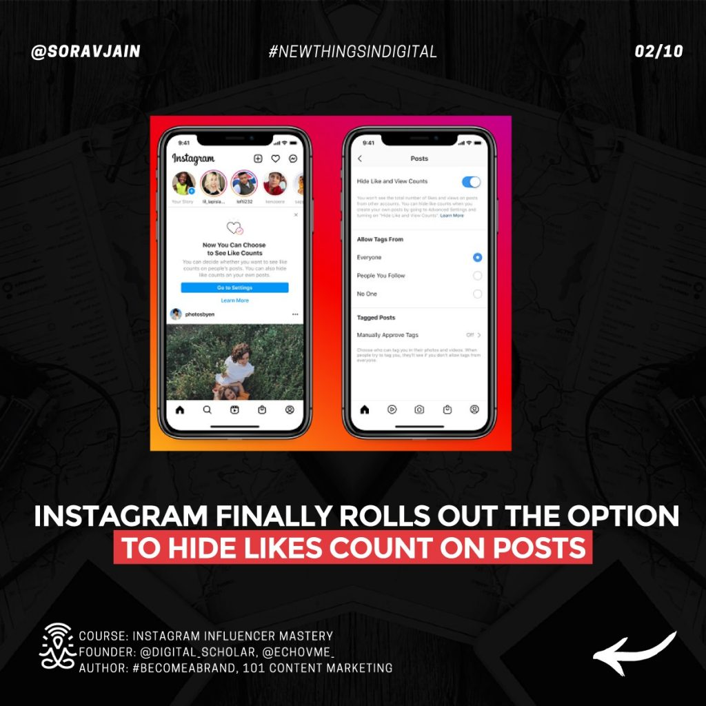 Instagram finally rolls out the option to hide Likes count on posts