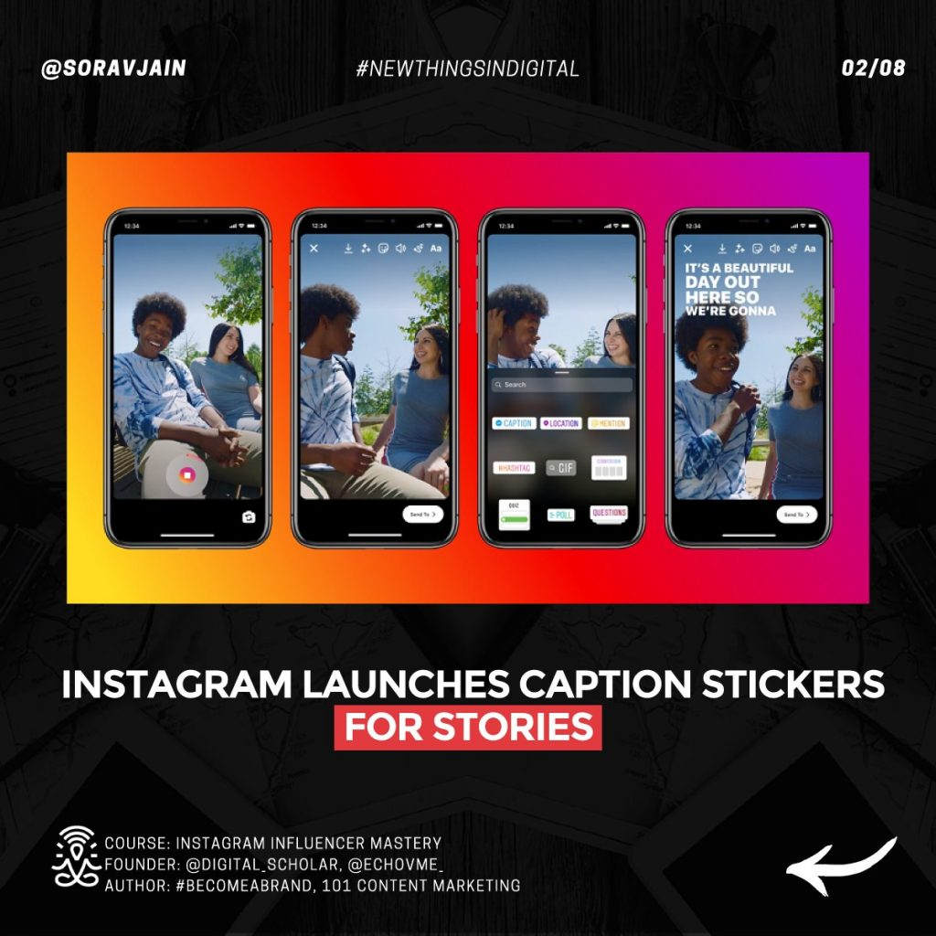 Instagram launches Caption Stickers for Stories